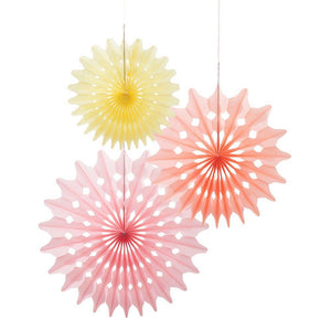 Honeycomb Fans Sobert Collection (3 Pack) - Bickiboo Party Supplies