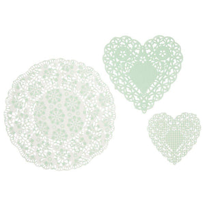 Mint Doilies (30 pack) - Bickiboo Party Supplies