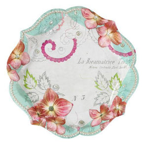 Pastries and Pearls Vintage Tea Party Plates - Bickiboo Party Supplies