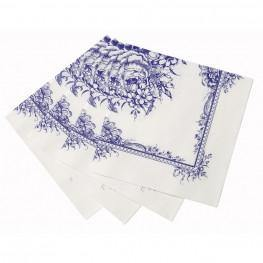 Party Porcelain Blue Napkin - Pack of 20 - Bickiboo Party Supplies