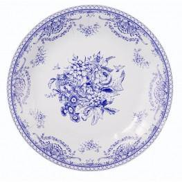 Party Porcelain Blue Vintage Tea Party Large Plates - Bickiboo Party Supplies