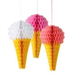 Pink 'N' Mix Ice Cream Decorations - Bickiboo Party Supplies