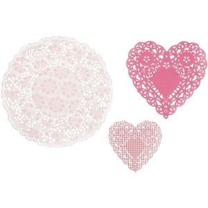 Pink N Mix Doilies (30 pack) - Bickiboo Party Supplies