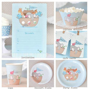 Noahs Ark Blue Party Cup - Bickiboo Party Supplies