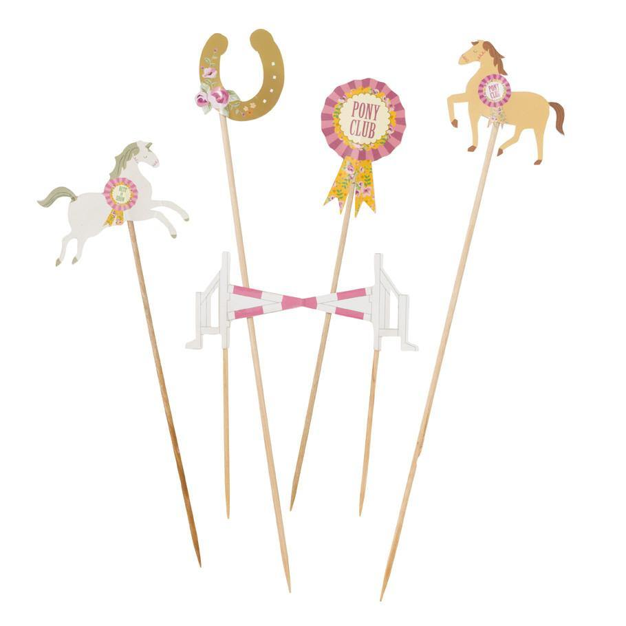 Pony Party Food Picks - Bickiboo Party Supplies