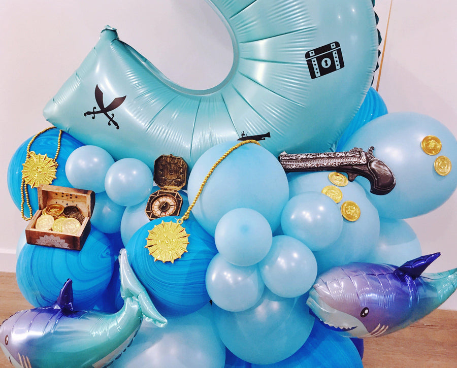 Bespoke number balloon stand - Pirate Party