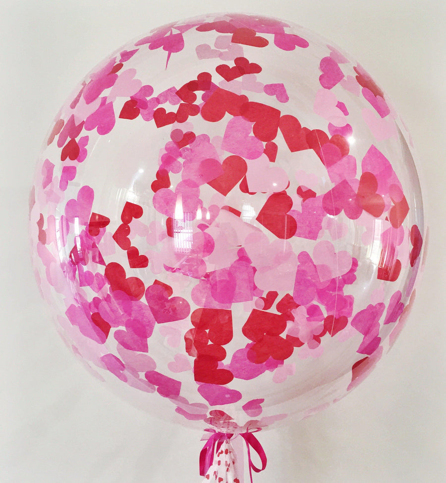 Jumbo Helium Filled Heart Confetti Balloon