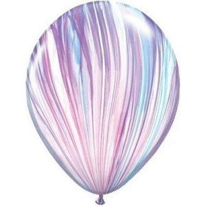Rainbow Marble 28cm Balloons  (5pack)