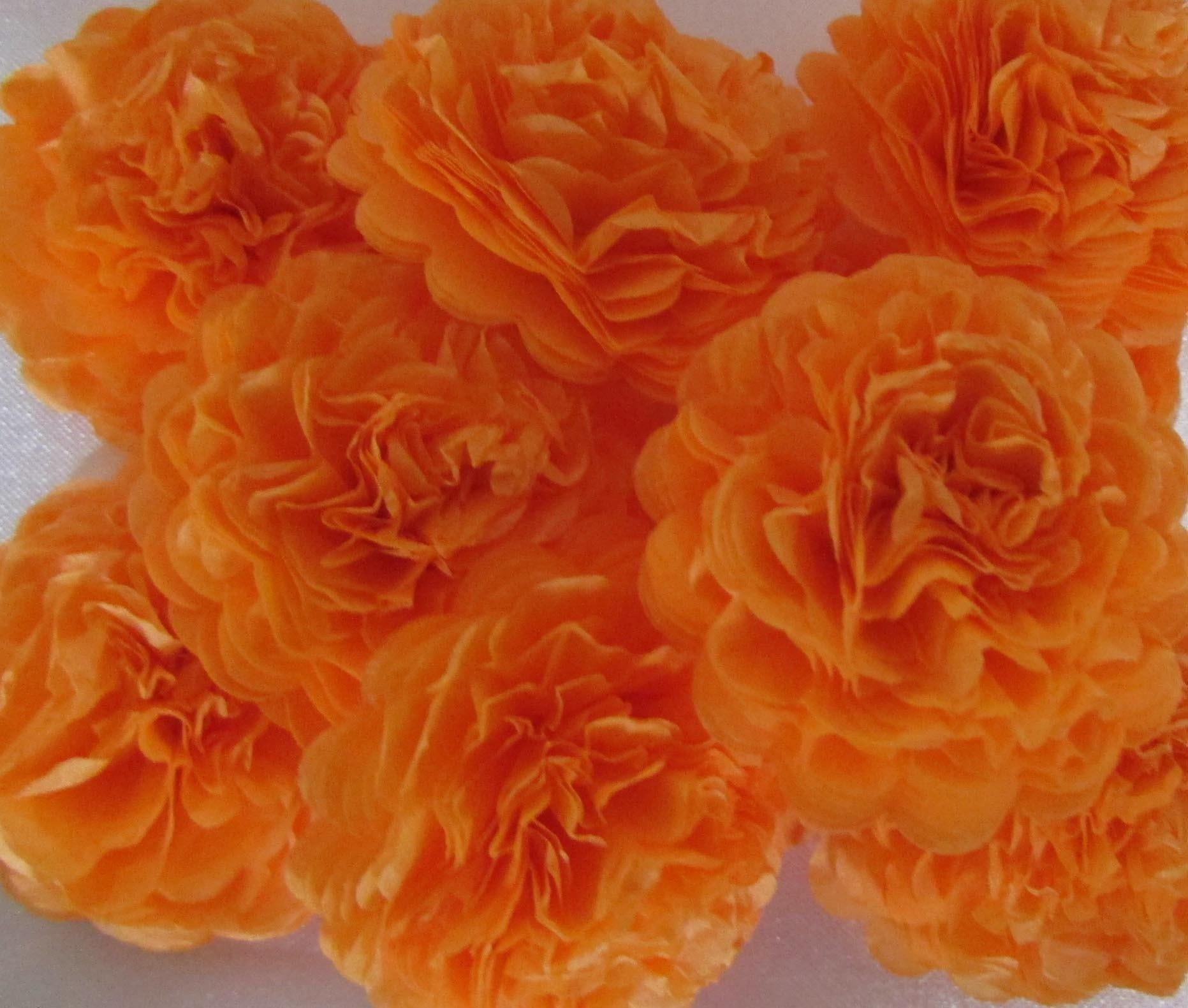 Apricot Orange Button Mums Tissue Paper Flowers Bickiboo Party