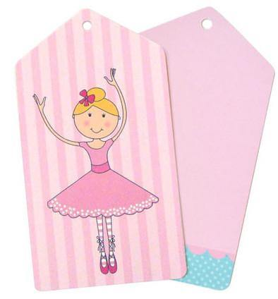 Ballerina Gift Tag - Bickiboo Designs
