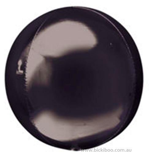 Black Orbz Balloon - Bickiboo Party Supplies