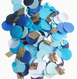Confetti Balloon Revealer For Gender Reveal Parties - Blue - Bickiboo Party Supplies