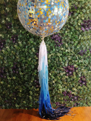 Balloon Tassel Garland - Blue Ombre