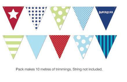 Blue Style Party Buntings - Bickiboo Designs