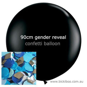 Confetti Balloon Revealer For Gender Reveal Parties (uninflated) - Blue - Bickiboo Designs