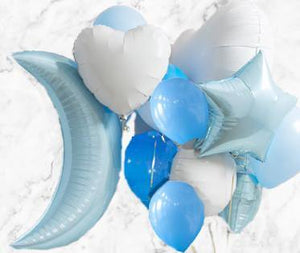 Baby Blue Party Foil Balloon Pack