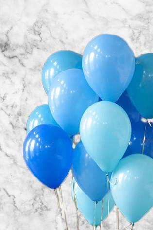 Shades of Blue Balloons Bouquet - Bickiboo Designs