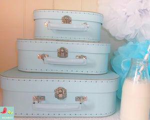 Baby Blue Euro Suitcases - Bickiboo Designs