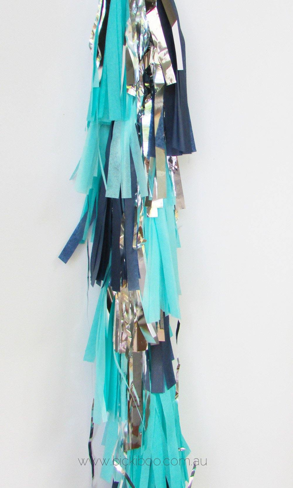 Balloon Tassel Garland - Blues - Bickiboo Party Supplies