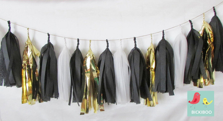 Tissue Paper Tassel Garland - Breakfast at Tiffany's - Bickiboo Designs