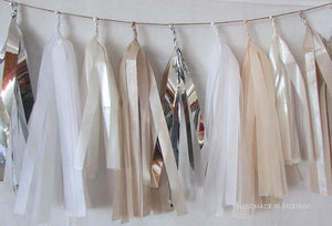 Tissue Paper Tassel Garland - Bridal Collection