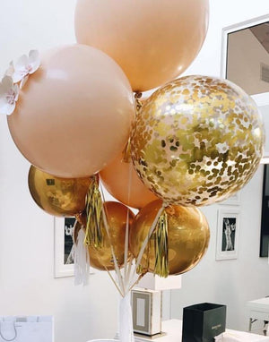 Peach & Gold  Balloons Bouquet - Bickiboo Designs