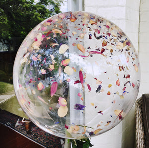 Flower Petal Confetti Balloon