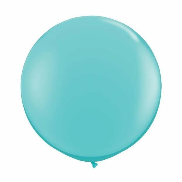 Giant Caribbean Blue Balloon - 90cm - Bickiboo Party Supplies