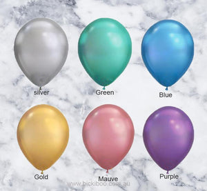 Mauve Chrome Look Balloons - 28cm (5 pack)