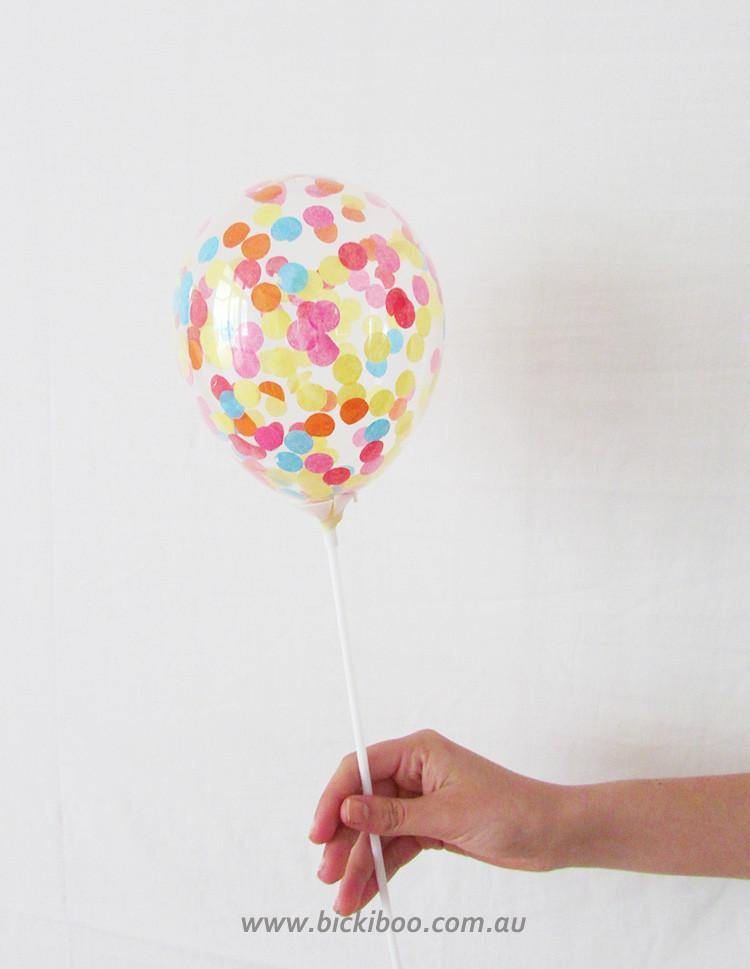 Custom Confetti Mini Balloons - 12cm (4 pack) - Bickiboo Designs