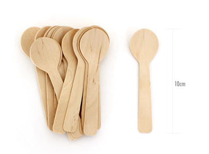 Paper Eskimo Wooden Cutlery Dessert Spoons - Bickiboo Party Supplies
