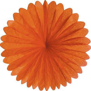 Mango Orange Daisy Paper Fans - Bickiboo Party Supplies