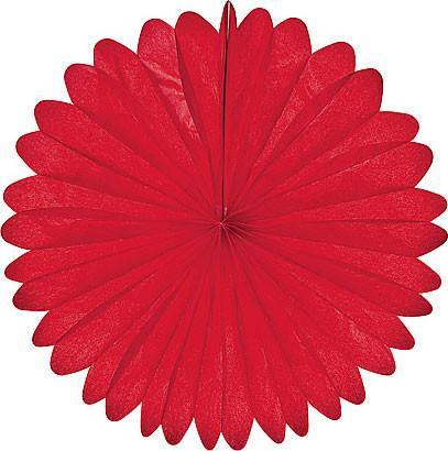 Red Daisy Paper Fans - Bickiboo Party Supplies