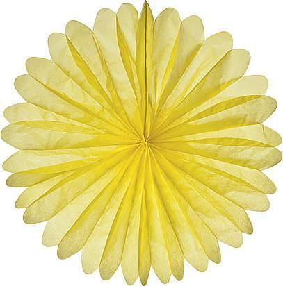 Yellow Daisy Paper Fans