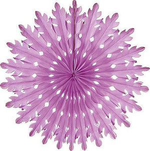 Lilac Purple Honeycomb Paper Fans - Bickiboo Designs