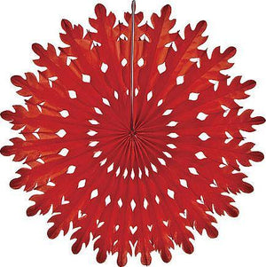Red Honeycomb Paper Fans - Bickiboo Designs