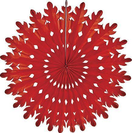 Red Honeycomb Paper Fans - Bickiboo Party Supplies
