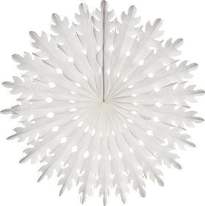 White Honeycomb Paper Fans - Bickiboo Designs