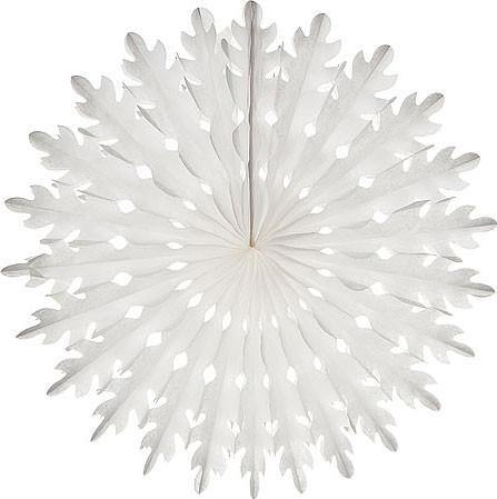 White Honeycomb Paper Fans