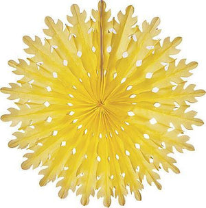 Yellow Honeycomb Paper Fans - Bickiboo Designs