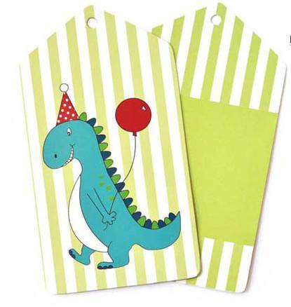 Dinosaur Gift Tag - Bickiboo Party Supplies