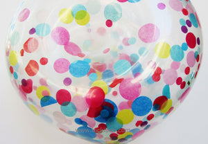 Custom Donut Shaped Confetti Balloon - 40cm - Bickiboo Designs