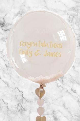 Personalised Engagement Confetti Bubble Balloon in a Box - Free Shipping - Bickiboo Designs