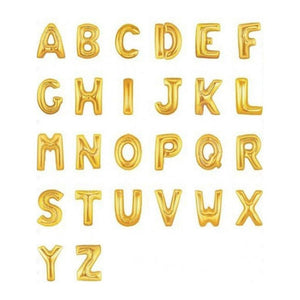 Giant Gold Foil Letter Balloon 86cm - Bickiboo Designs