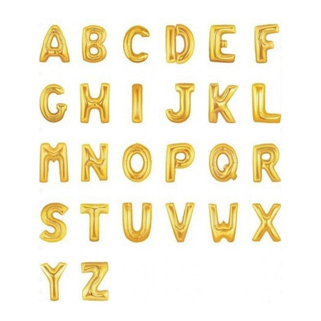 Giant Gold Foil Letter Balloon 100cm - Bickiboo Party Supplies