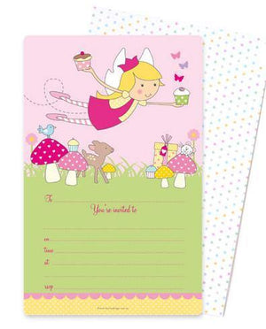 Fairy Garden Party Invitation - Bickiboo Party Supplies