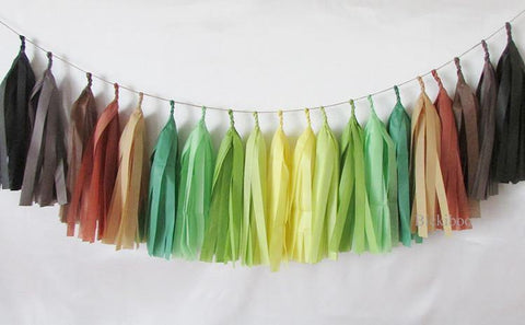 Tissue Paper Tassel Garland - Earth Day