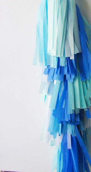 Balloon Tassel Garland - Blue