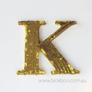 Sequin Letters - Gold - Bickiboo Party Supplies