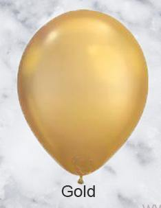 Gold Chrome Look Balloons - 28cm (5 pack) - Bickiboo Designs